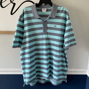 Lacoste Short Sleeve Striped Polo 2XL